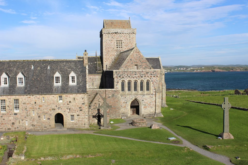 Shadow of replica shines on burial place of St Columba