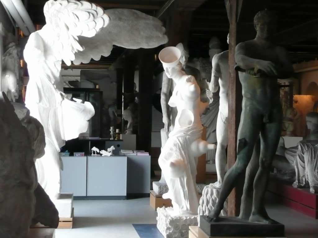 Interior view of reception area of Royal Cast Collection, Copenhagen (c) Sally Foster