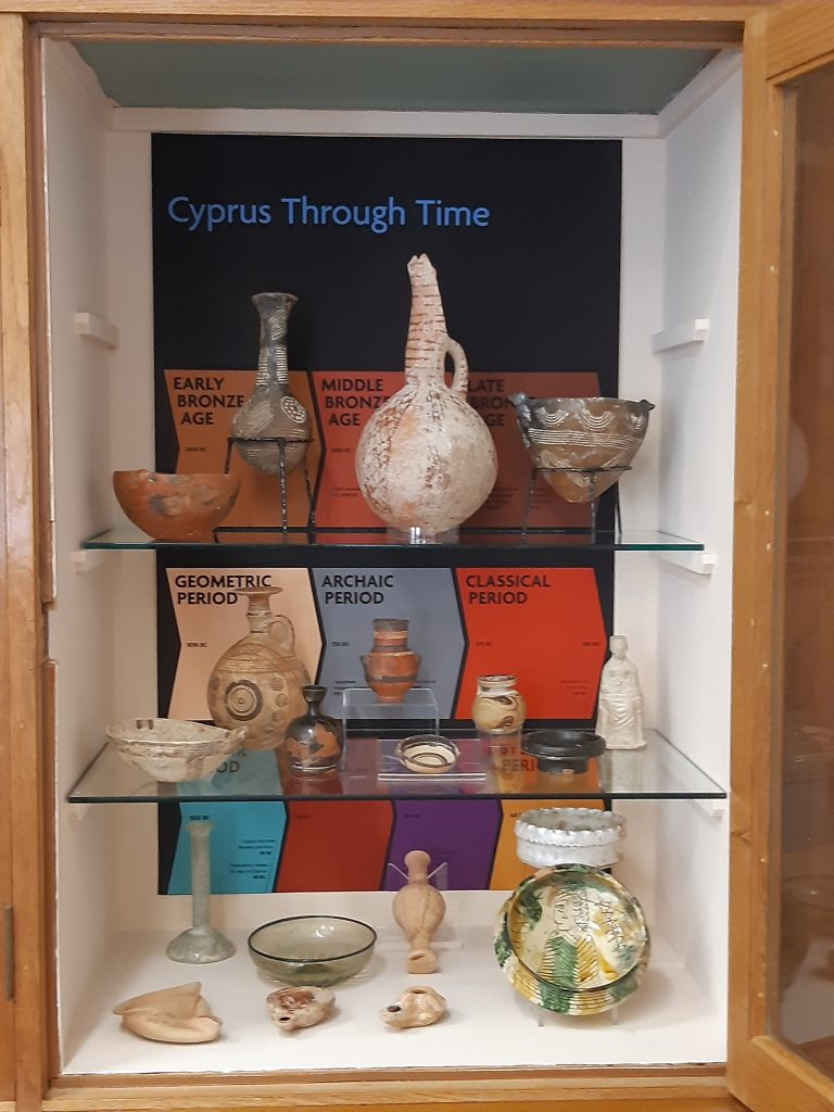 One of the Bridges Collection Displays, School of Classics. © School of Classics, University of St Andrews