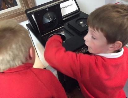 Sensory Box containing modern replicas. © School of Classics, University of St Andrews
